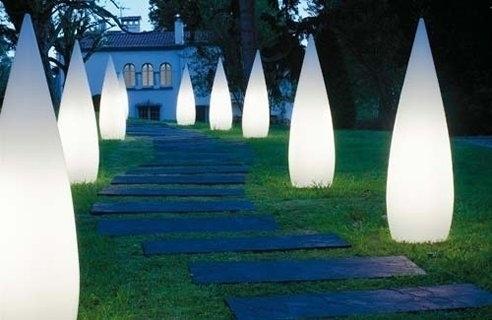 Luci da giardino a energia solare e aurora
