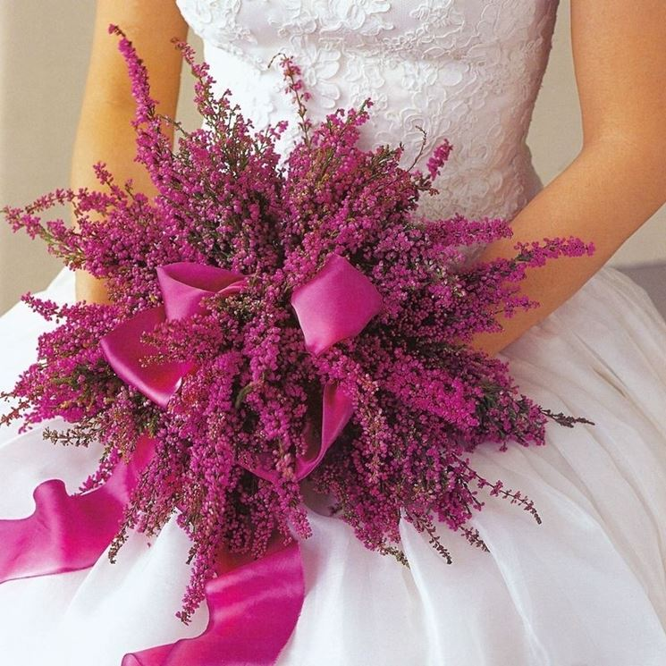 Bouquet da sposa con erica