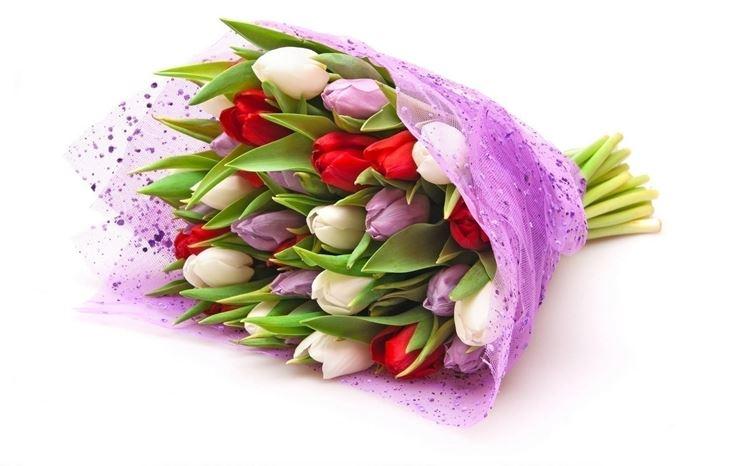 Il mazzo di fiori come regalo