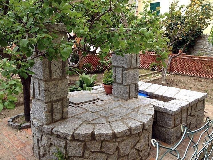 Pozzi Decorativi Da Giardino : Recupero di pozzi da esterno elementi progettazione giardini