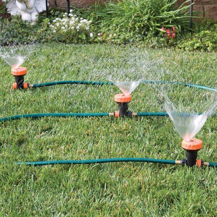 Annaffiare Con Gli Irrigatori Oscillanti Impianto