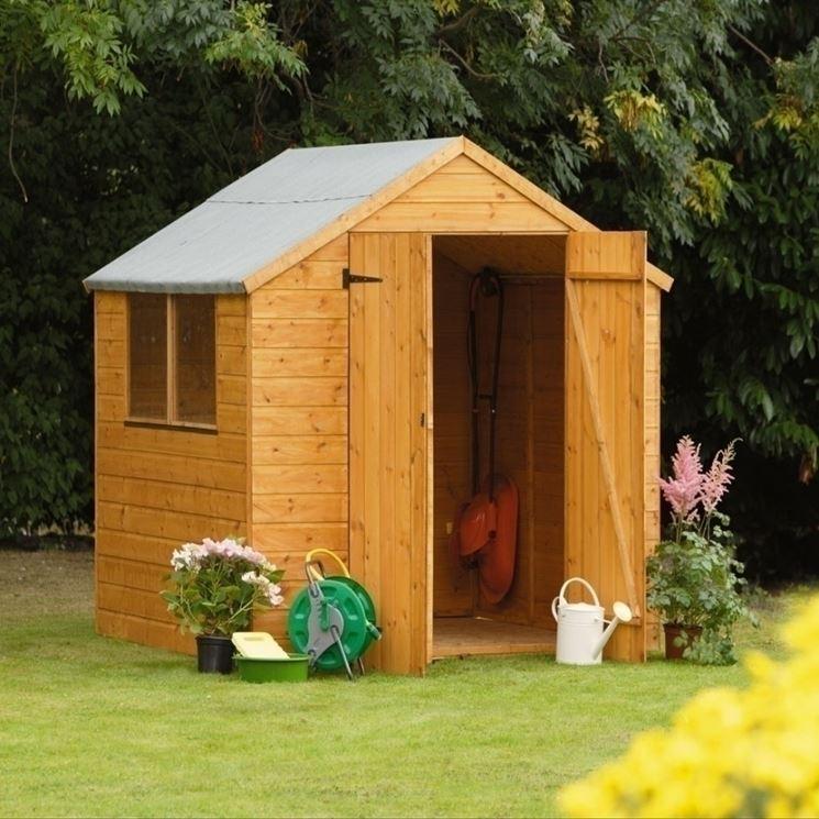 L'uso delle casette in legno in giardino