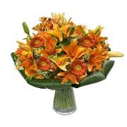 bouquet di amarillis arancio