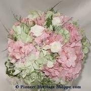 bouquet rose e ortensie