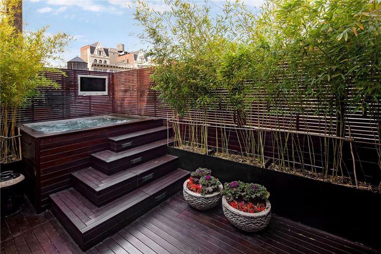bambù in giardino